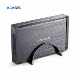 10059TW High Quality Aluminum Alloy Acasis BA-06US 3.5 Inch USB 3.0 To SATA External HDD Enclosure 4TB Hard Drive Case Black
