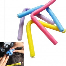 10PCS Set Curler Makers Soft Foam Sponge Bendy Twist Curls DIY Styling Hair Rollers JAN17