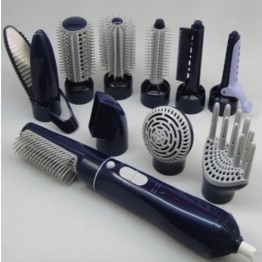 10 in 1 Hot Air Hair Styler 2 Temperature 110V - 240V Hair Styling Tools With Hair Dryer Brush + Curling Irons + Straightener