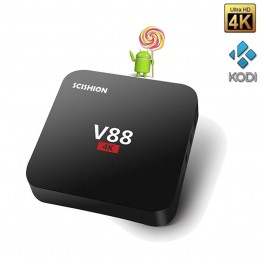 10pcs/lot  V88 Android TV BOX Rockchip 3229 Quad Core Android 6.0 1G/8G 2.4G WiFi 4K* 2K HD Loaded add-ons Smart Media Player