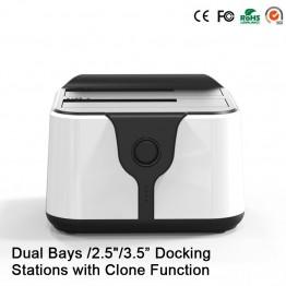 12TB Reading Capacity Enclosure for Hdd 2-Bay Sata Dual usb 3.0 case External Hard Drive Storage Dock Station Hdd Box