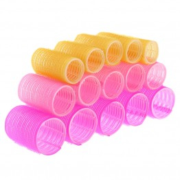 15pcs/lot Hairdressing Home Use DIY Magic Large Self-Adhesive Hair Rollers Styling Roller Roll Curler Beauty Tool 3 size