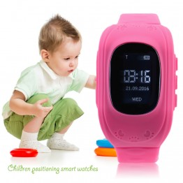 2017 Newest Anti Lost Children Kid  Smart watch GPS Position Rubber Band Wrist Watch Bracelet Electronic Watch For Android For IOS