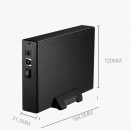 "3.5""Inch SATA HDD Enclosure External USB3.0 HDD Cover Case Hard Drive Disk Storage Max up to 4TB Supports plug-play Aluminium"