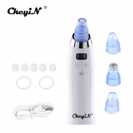 4 Tips Facial Face Pore Cleanser Comedo Sucker Vacuum Suction Blackhead Eliminator Acne Remover Skin Care Beauty Massage Device