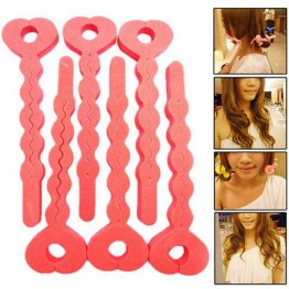 6 Pcs/lot Soft Hair Curlers Foam Sponge Strip Sponge Curler Hair Rollers Salon Hair Style Tools