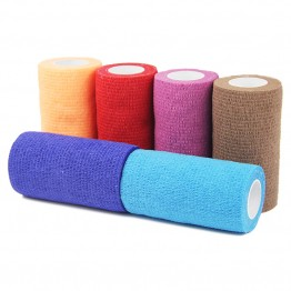 6 Rolls 10cm x 5cm Kinesiology Tape Cotton Elastic Adhesive Muscle Sports Tape Colourful Kinesio Tape