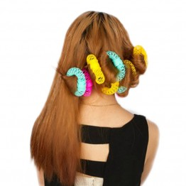 8pcs/Pack Hot The explosion of the donut curlers not hurt hair curling hair self-adhesive plastic small tool Hair Rollers