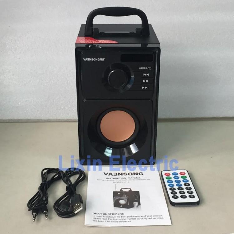 A10 Stereo Subwoofer Bluetooth Speaker HiFi Portable Speakers USB TF Card Mp3 Play 10W Super Bass Loudspeaker FM Radio ColumnSpeakers