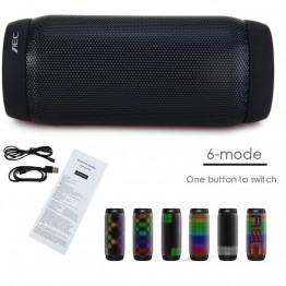 AEC colorful Waterproof LED light Portable Bluetooth Speaker BQ - 615 Pro Wireless Super Bass Mini Speaker Flashing Lights FM