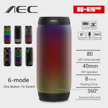 AEC colorful Waterproof LED light Portable Bluetooth Speaker BQ - 615 Pro Wireless Super Bass Mini Speaker Flashing Lights FM32688388303