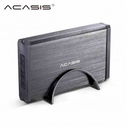 Acasis ba-06us high quality aluminum alloy 3.5 inch usb3.0, can be used in SATA external HDD shell 4TB hard disk box black