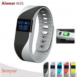 Aiwear M2S Waterproof Smart Watch with Heart Rate Monitor Pedometer Function Anit-lost Bracelet Bluetooth Support Android iOS