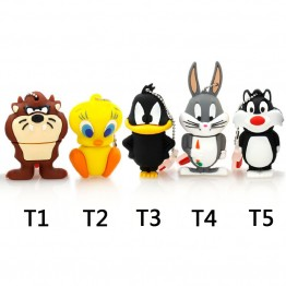 Amthin pendrive animal 4G Daffy 8G Duck 16G Bugs Bunny Crow Lion cat USB Flash Drive U Disk Creativo Pendrive Memory Stick Gift
