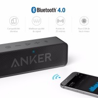 Anker SoundCore Dual-Driver Portable Wireless Bluetooth Speaker with 24-Hour Playtime, 66-Foot Bluetooth Range Built-in Mic