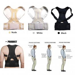 Aptoco Magnetic Therapy Posture Corrector Brace Shoulder Back Support Belt for Men Women Braces & Supports Belt Shoulder Posture