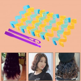 Automatic Hair Curlers Rollers Magic Hair Styling Tools Thread Form Big Waves Snail Curls Curly Hair Artifact At Random Color