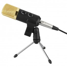 BM300 USB Condenser Sound Recording Audio Processing Wired Microphone with Stand for Radio Braodcasting KTV Karaoke