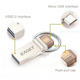 Best Pendrive!EAGET V90 OTG 16GB 32GB 64GB Usb Memory Stick Flash Pen Drive OTG Pendrive 3.0 USB Stick 32G OTG USB Flash Drive
