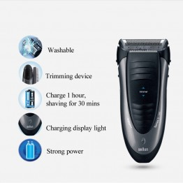 Braun Electric Shaver 190S Floating Foil Men Razor Waterprrof Washable Electric Razor