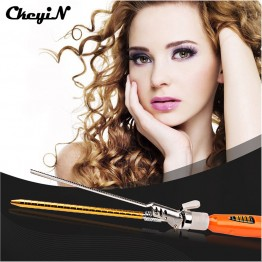 CkeyiN Fashion 9MM Deep Curly Hair Styler Curls Ceramic Curling Iron Wave Machine Pro Spiral Hair Curlers Rollers Curling Wand