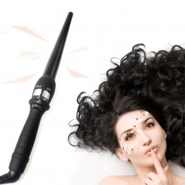 Curlers Conical Curling Iron Single Tube Ceramic Glaze Pear Flower Cone Electric Hair Curly Hair