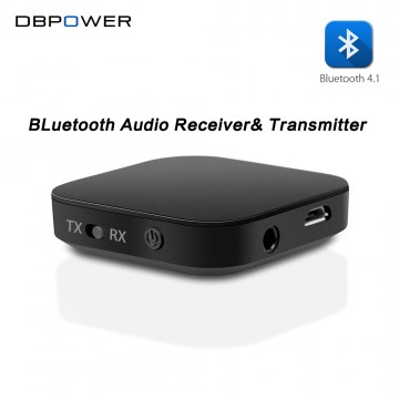 DBPOWER 2-in-1 Bluetooth Receiver Transmitter Audio Wireless Receiver Bluetooth 4.1 Transmitter for Speakers and Earphones Mp332347927186