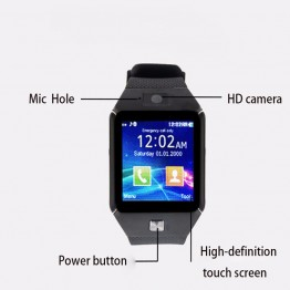 DZ09 Smart Watch With Camera Bluetooth WristWatch SIM Card Smartwatch For Ios Android Phones Support Multi languages Men Women