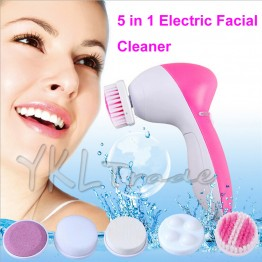 Deep Clean 5 in 1 Electric Face Care Facial Cleaner Cleaning Brush Cleansing Device Skin Massage Spa Beauty Wash Equipment