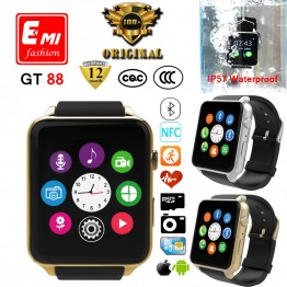 EMI New 100%Original Heart Rate Monitor Bluetooth Smart watch GT88 Smartwatch Support SIM Card For IOS Android System Smartphone