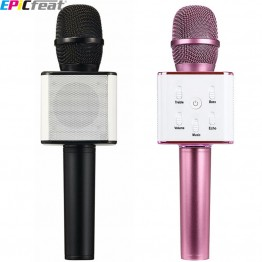 EPiCfeat Karaoke Professional Condenser Wireless Microphone for Computer Phone Live Stream Voice Record Bluetooth USB Mixer Q7