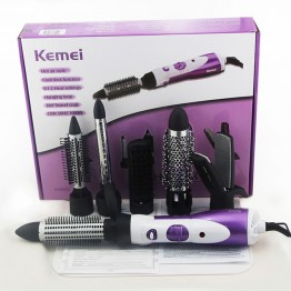 Electric Hair Dryer Professional 7 in 1 Hair Brush Blow Hair Dryer Hot and cold Curler Wand Straightener Iron Salon Equipment