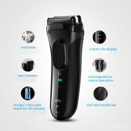 Electric Razors Braun Series 3 Electric Shavers 3020S Blades Reciprocating Shaving Machine Electric Razors For Men Hair Trimmer