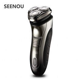 Electric Shaver For Man 4D Floating Men's Washable Rechargeable Rotary Electric Shavers Razor with Pop-up Trimmer USB Charging
