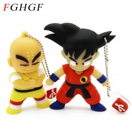 FGHGF Goku Kuririn Gifts pen drive 8GB 16GB 32GB Dragon Ball Usb Flash Drive Pendrive memory stick USB creativo Wholesale