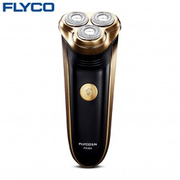 FLYCO professional 3 floating heads electric shaver for men with pop-up Trimmer Full heads washable razor charge indicator FS360
