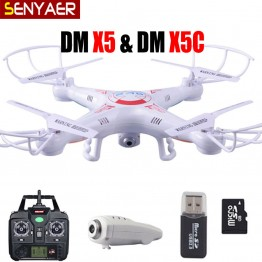 Flying Camera DM X5C-1 RC Helicopter 2.4G 4CH 6-Axis Drone With HD Camera X5C Quadcopter and DM005 X5 without camera Dron