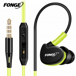 Fonge Sport Headphones Earphones With Mic Running Stereo Bass Music Headset For All Mobile Phone