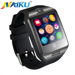 Free shipping New Q18 Passometer Smart watch with Touch Screen camera TF card Bluetooth smartwatch for Android IOS Phone T30