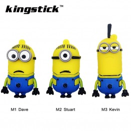 Funny Minions Memory Stick 8GB 4GB 16GB Cute Cartoon Pen Drive 32GB 64GB Usb Flash Drive Pendrive USB 2.0 Free shipping