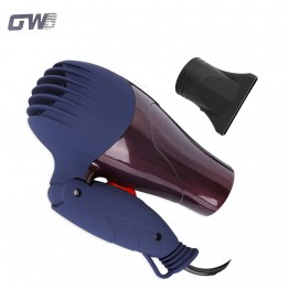 GUOWEI 1500W Portable Mini Hair Blower Collecting Nozzle 220V EU Plug Foldable Traveller Household Electric Hair Dryer GW - 555