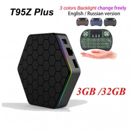 [Genuine] T95Z Plus 2GB 16GB 3GB 32GB Amlogic S912 Octa Core Android 6.0 TV BOX 2.4G/5GHz Dual WiFi BT4.0 Fully Load 4K H.265