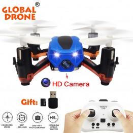 Global Drone GW008C Skull MIcro Drone HD Camera  Drone Mini RC Helicopter Drones Indoor Flight Nano Quadcopters VS JJRC H36