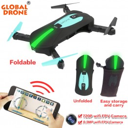 Global Drone GW018 Foldable Quadcopter Selfie Helicopter Mini Nano Dron WIFI Drones Can Carry With 720P HD Camera Pocket Drone