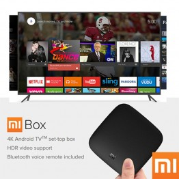 Global Xiaomi Mi TV Box 3 Android 6.0 Smart 4K Cortex-A53 WiFi Bluetooth 8GB H.265 Set-top Sling Youtube Netflix 4K DTS Dolby