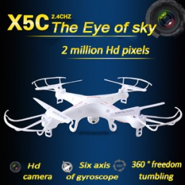Great Promotion Syma X5/X5C Explorers 2.4G 4CH rc airplane 4ch rc Quadcopter With HD Camera LCD Drone RTF 2G x5c with Light