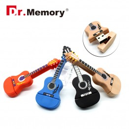 Guitar pen drive cartoon usb flash drive hot usb stick cute pendrive 4G 8G 16G USB 2.0 disk 4 colour flash card Freeshipping