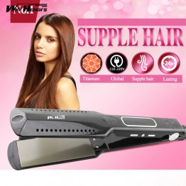 HOT Steam Hair Straightener Irons Titanium Flat iron Professional Hair Iron for hairstylist dual voltage