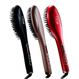 HTG  hair brush iron Hair straightener hair iron Professional Ceramic Electric Straightening brush Styling Tools Ionic Generator