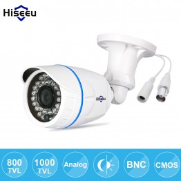 Hiseeu 800TVL 1000TVL ABS CCTV Camera Analog IR-Cut Night Vision Outdoor Waterproof Bullet Camera Surveillance freeshipping SBF